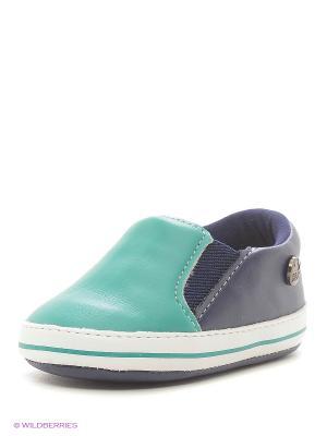 Мокасины Klin. Цвет: синий, зеленый