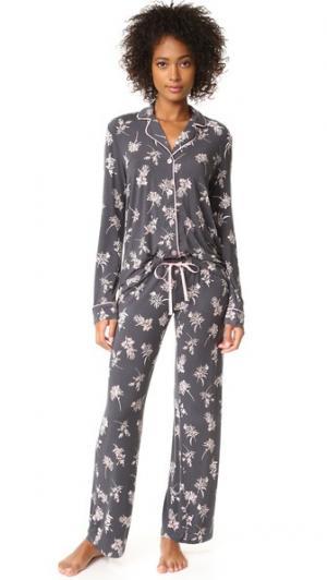 Пижама Seduction с цветочным рисунком PJ Salvage. Цвет: дымчато-серый