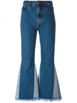 Укороченные джинсы Martina Misbhv. Цвет: синий
