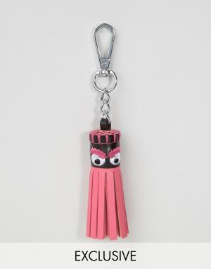 Skinnydip Брелок для ключей с кисточкой. Цвет: розовый