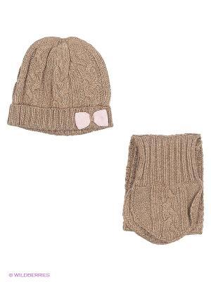 Комплект: шапка, шарф CHICCO. Цвет: бежевый