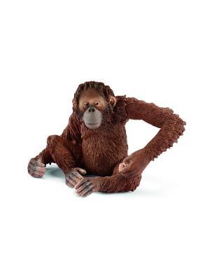 Орангутан, самка SCHLEICH. Цвет: светло-коричневый, бежевый, рыжий