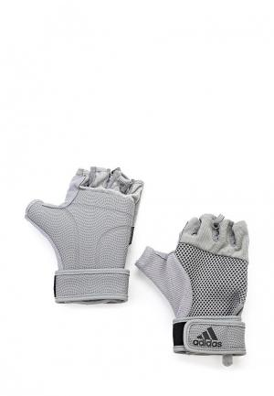 Перчатки для фитнеса adidas Performance. Цвет: серый