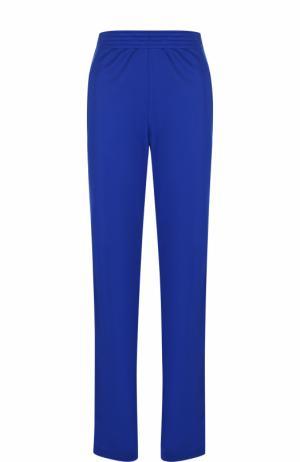 Однотонные брюки прямого кроя с эластичным поясом Givenchy. Цвет: синий