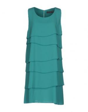 Короткое платье CARLA MONTANARINI. Цвет: светло-зеленый