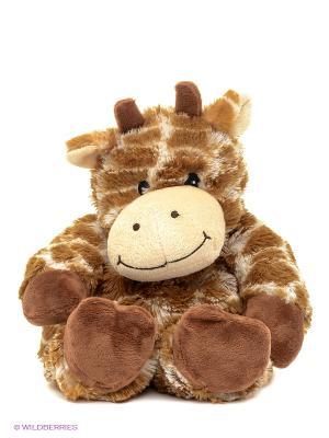 Игрушка-грелка Cozy Plush Жираф Warmies. Цвет: рыжий