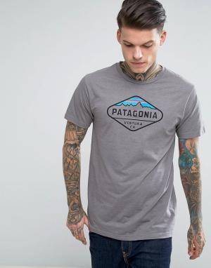 Patagonia Серая меланжевая футболка. Цвет: серый