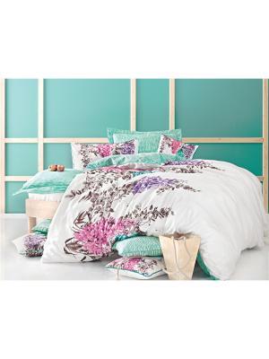 Комплект постельного белья SEPHORA сатин, 200ТС, евро ISSIMO Home. Цвет: розовый