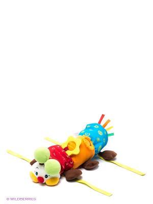 Игрушка для коляски Гусеничка K'S Kids. Цвет: коричневый, красный, оранжевый