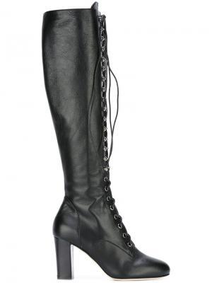 Сапоги на шнуровке Philosophy Di Lorenzo Serafini. Цвет: чёрный