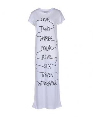 Платье длиной 3/4 OTTOD'AME. Цвет: белый