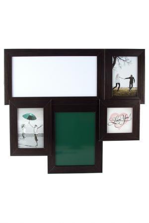 Фоторамка-коллаж на 3 фото Русские подарки. Цвет: зеленый, синий, коричневый