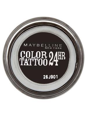 Тени для век Color Tattoo 24 часа, оттенок 60, Бессменный черный, 4 мл Maybelline New York. Цвет: черный
