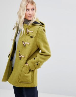 Gloverall Зеленое пальто миди Monty. Цвет: зеленый