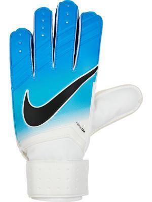 Вратарские перчатки NIKE GK MATCH. Цвет: белый, голубой