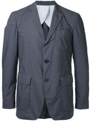 Пиджак с карманами клапанами Wooster + Lardini. Цвет: серый