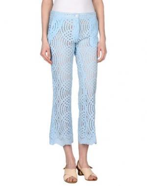 Повседневные брюки AISHHA. Цвет: небесно-голубой