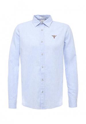 Рубашка Aeronautica Militare. Цвет: голубой