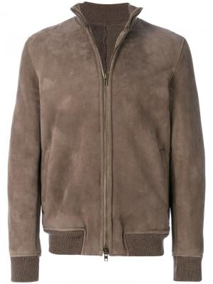 Куртка-бомбер на молнии Salvatore Santoro. Цвет: серый