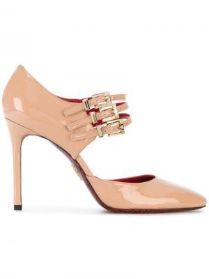 Triple buckle mary jane shoes Cesare Paciotti. Цвет: розовый и фиолетовый