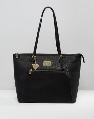 Marc B Классическая сумка для покупок на молнии Angel. Цвет: черный