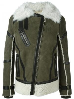 Куртка с овчиной Boulder Belstaff. Цвет: зелёный