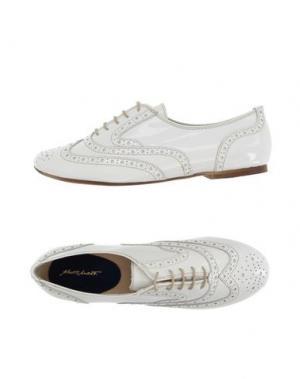 Обувь на шнурках ALBERTO MORETTI. Цвет: белый