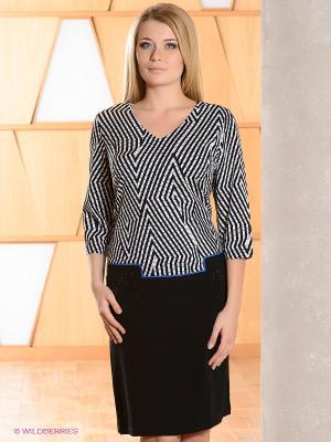 Платье Gemko plus size. Цвет: черный, белый, синий