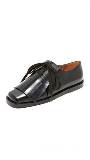 Обувь на плоской подошве со шнуровкой Marni. Цвет: голубой