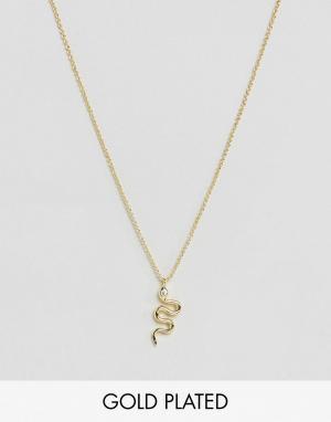 Rock 'N' Rose Ожерелье в виде змеи N. Цвет: золотой