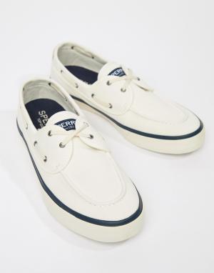 Sperry Белые мокасины-кроссовки Topsider. Цвет: белый