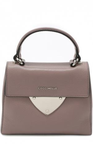Кожаная сумка B14 Mini Coccinelle. Цвет: фиолетовый