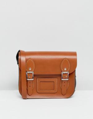 Leather Satchel Company Маленькая сумка сэтчел. Цвет: рыжий