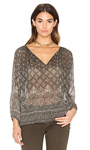 Шелковая блузка tullis Joie. Цвет: коричневый
