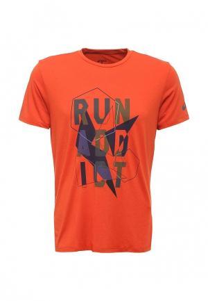 Футболка спортивная ASICS. Цвет: оранжевый