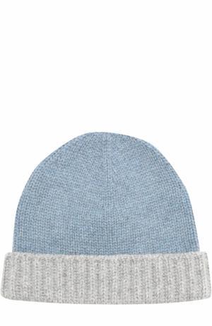 Кашемировая шапка бини Loro Piana. Цвет: голубой