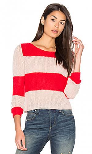 Свитер в полоску remi 360 Sweater. Цвет: красный
