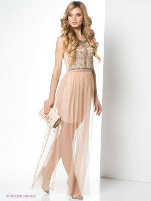 Платье Goddess London. Цвет: персиковый