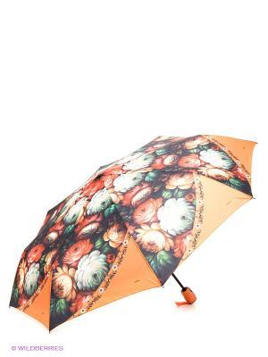 Зонт RAINDROPS. Цвет: зеленый, оранжевый, синий