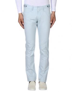 Повседневные брюки MESSAGERIE. Цвет: небесно-голубой