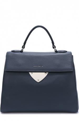 Кожаная сумка B14 Coccinelle. Цвет: темно-синий
