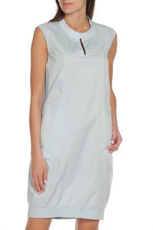 Свободное платье без рукавов EUROPEAN CULTURE. Цвет: голубой