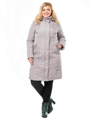 Пальто Best&Best. Цвет: серый
