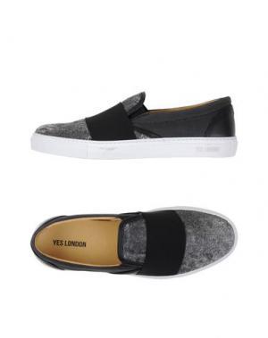 Низкие кеды и кроссовки YES LONDON. Цвет: черный