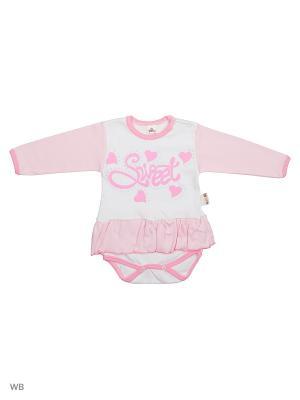 Платье-боди Babycollection. Цвет: розовый