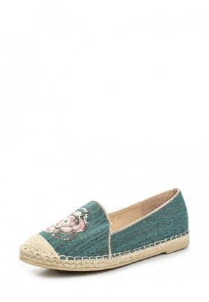 Эспадрильи Sweet Shoes. Цвет: зеленый