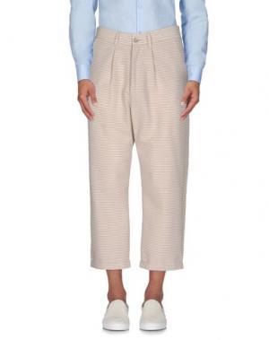 Повседневные брюки 26.7 TWENTYSIXSEVEN. Цвет: песочный