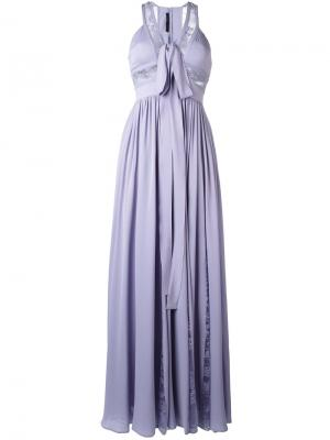 Расклешенное вечернее платье Elie Saab. Цвет: розовый и фиолетовый