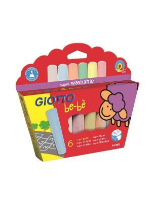 Giotto BE-BE SUPER CHALK Мел д/асфальта 6цв. FILA. Цвет: красный, желтый, фиолетовый