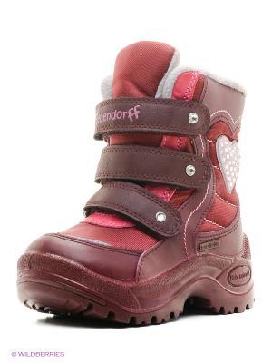 Ботинки Bebendorff. Цвет: бордовый